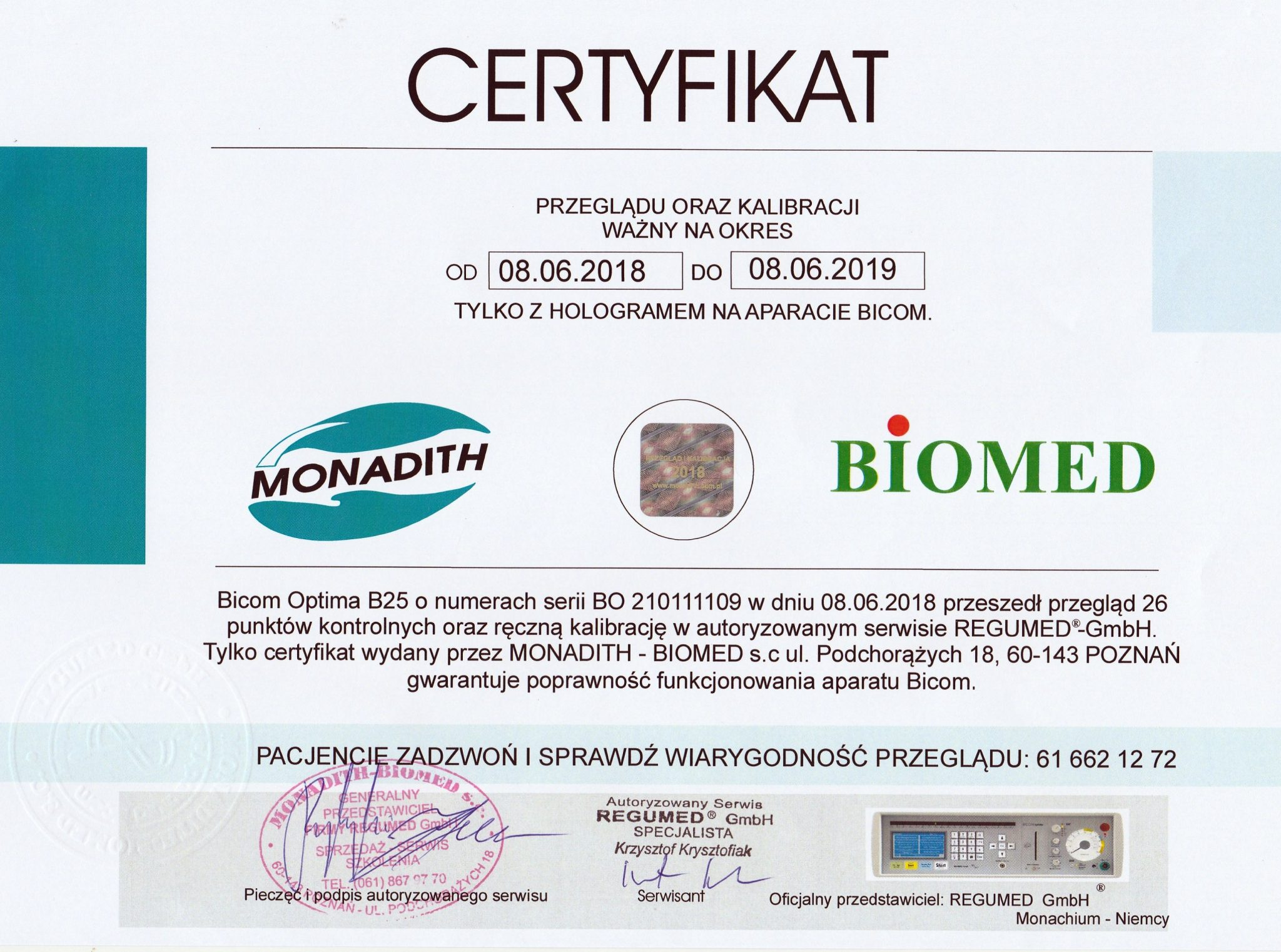 certyfikatBicom